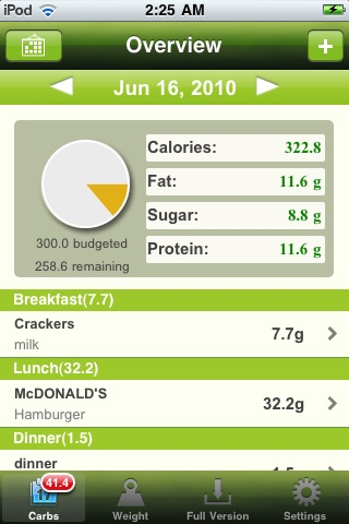 Carb Master Free - Daily Carbohydrate Tracker screenshot-0