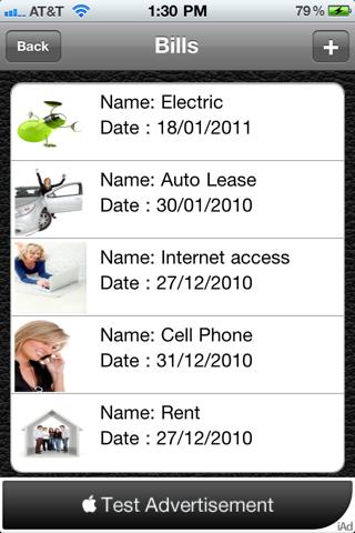 Bill Manager HD Lite screenshot four