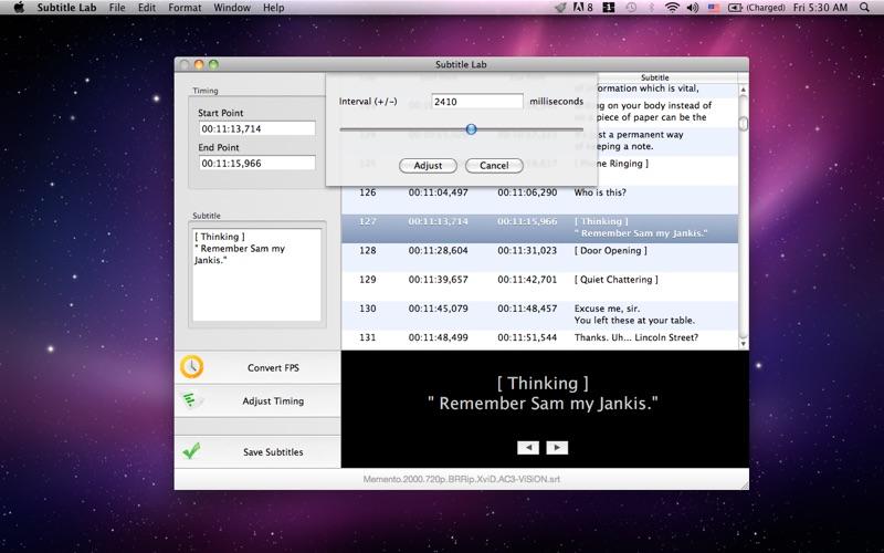 Subtitle Lab Screenshot