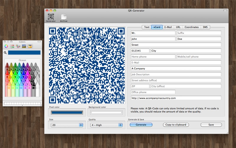QR-Generator Screenshot