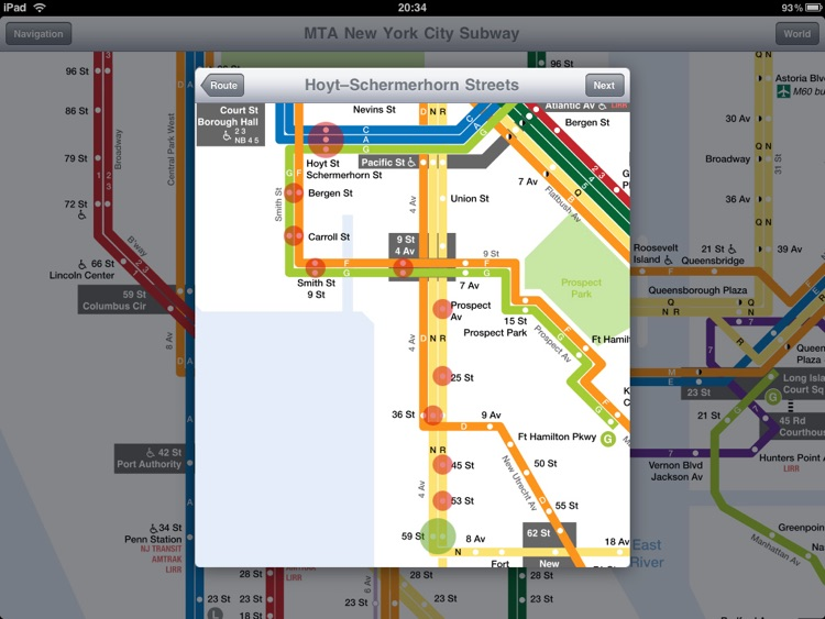 New York Subway for iPad screenshot-3