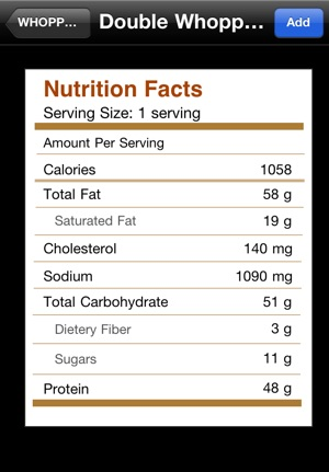 Bww Nutrition Information Download