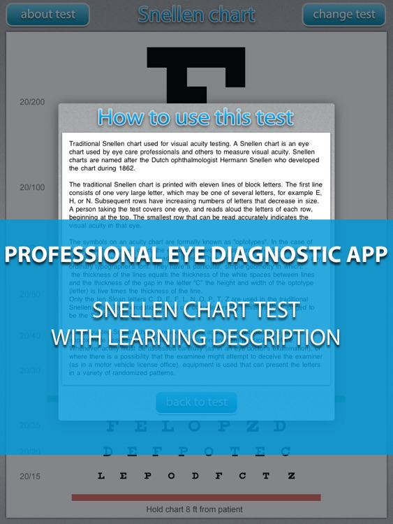 Snellen chart HD - Medical eye Diagnostic chart and test