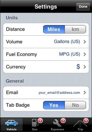 Screenshot of VehiCal - Car Expense Management
