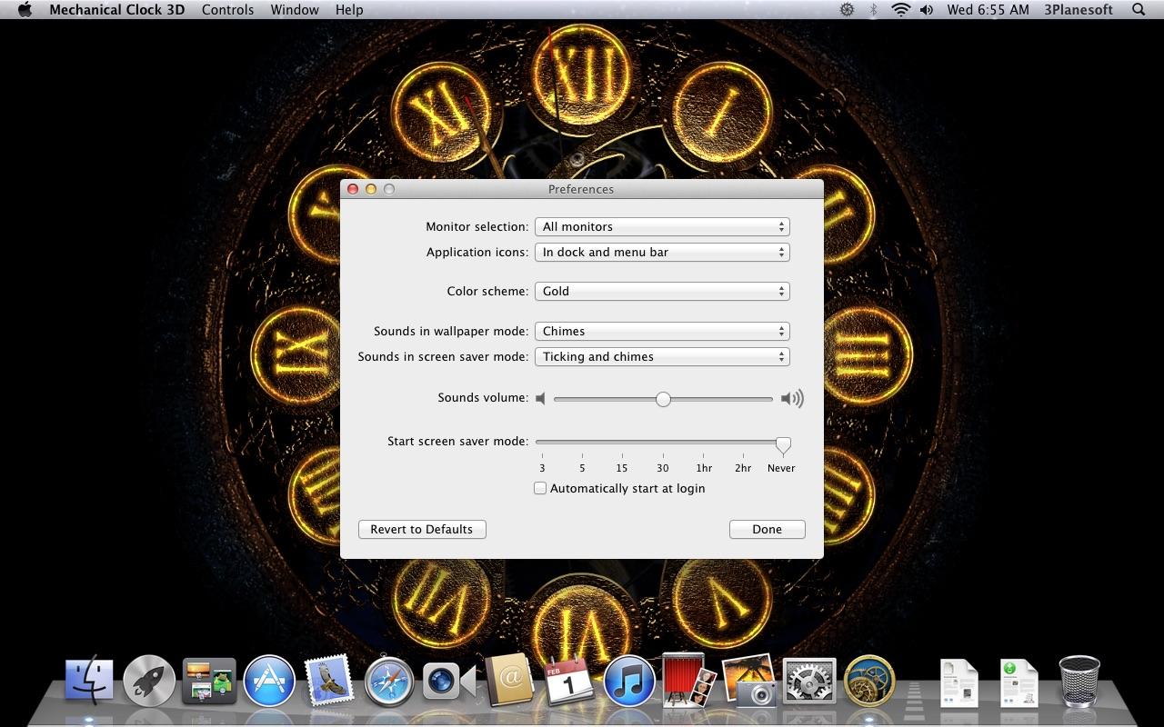 Screenshot do app Mechanical Clock 3D