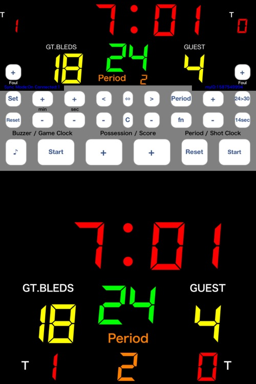 Basketball Scoreboard -Dejibo- screenshot-0