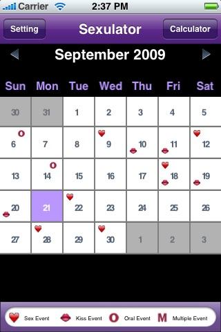 A Sexulator - Sex Calculator & Calendar Tracker