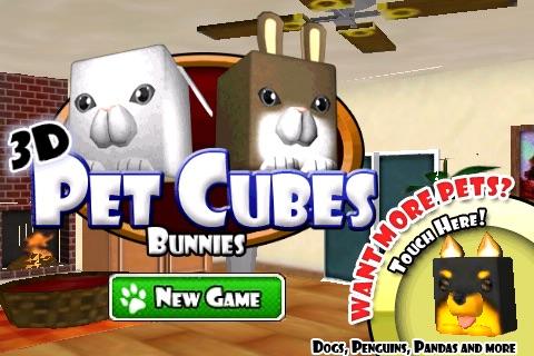 3D Pet Cubes Bunnies