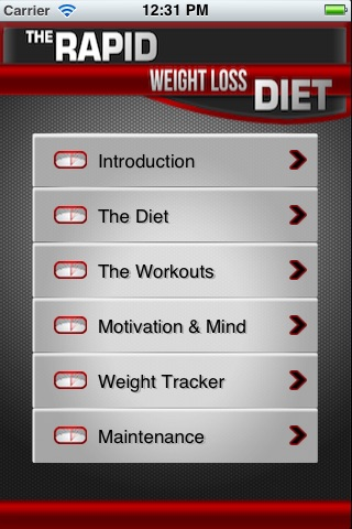 Rapid Weight Loss Diet App