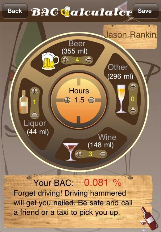Alcohol Monitor Pro – BAC Calculator