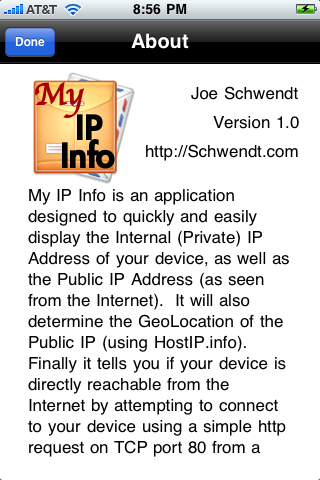 My IP Info screenshot 2