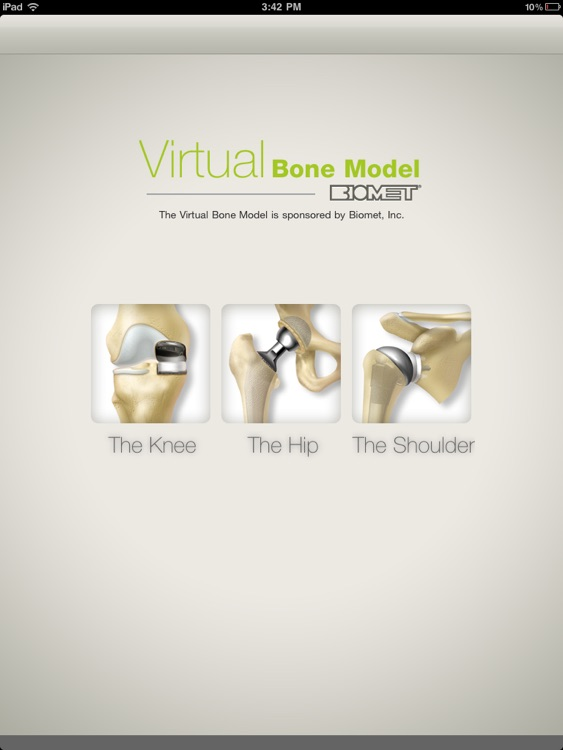 Biomet Virtual Bone Model