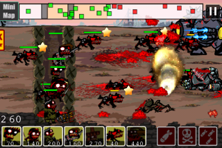 Screenshots of 2012 Zombies vs Aliens Warfare for iPhone