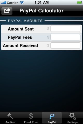 eBay & PayPal Fee Calculator screenshot-3