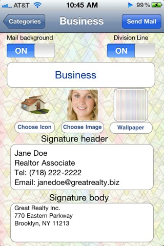 "Cool Email Signatures ""Free Edition"" screenshot-1"