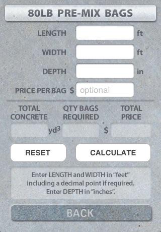DIY Concrete Imperial - Concrete Calculator