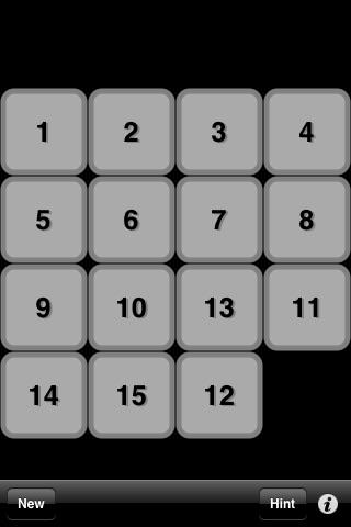 15 Puzzle screenshot three