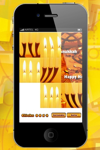 Hanukkah Sliding Puzzle HD Lite screenshot-3