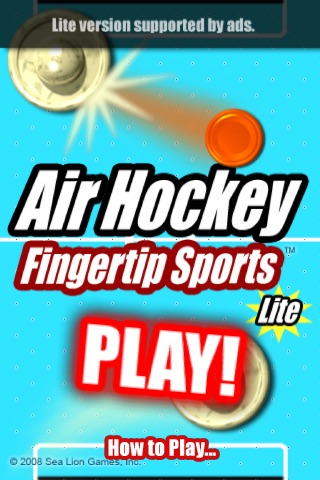 Air Hockey Fingertip Sports Lite screenshot-1