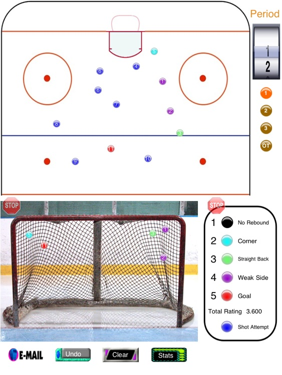 Hockey Shot and Goalie Saves Tracker screenshot-1