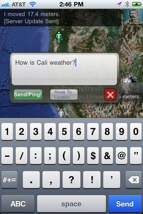 Oi! PingMe! - Locate friends on map and text them