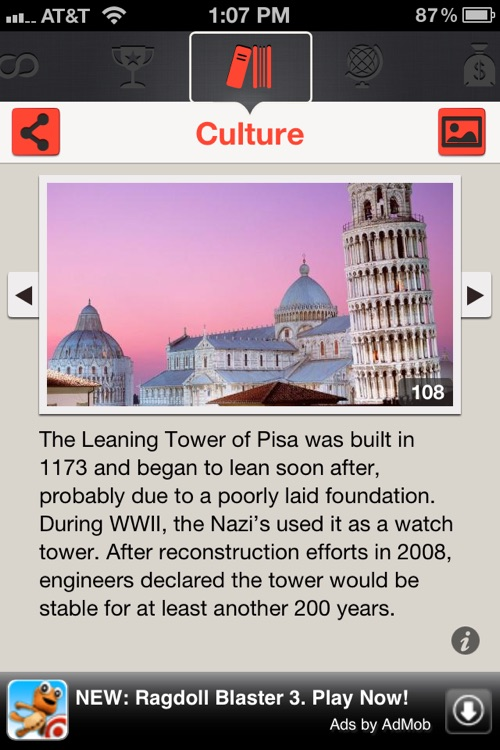 Country Facts Italy - Italian Fun Facts and Travel Trivia screenshot-2
