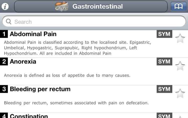 Symptomatology - Students' Pocket book of Symptoms & Signs screenshot-4