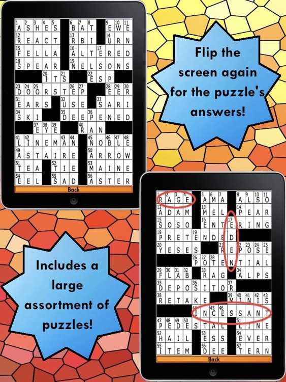 Assorted Crossword Puzzles HD – For your iPad! screenshot-3