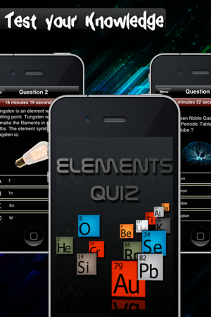 Elements quiz periodic table picture questions on the app store screenshots urtaz Images