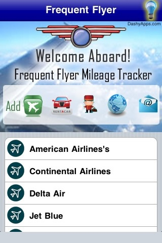 Frequent Flyer Mileage Tracker and Flight Log screenshot 1