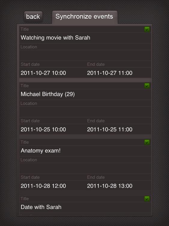 Syncal HD Free (Google Calendar ™ Sync) screenshot-3
