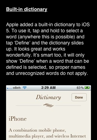 Tips and tricks for iOS 5 FREE