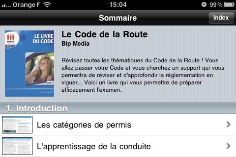 le livre du code de la route dans l app store. Black Bedroom Furniture Sets. Home Design Ideas