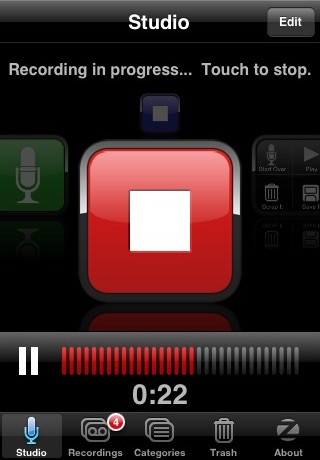 Screenshot of SpeakEasy Voice Recorder