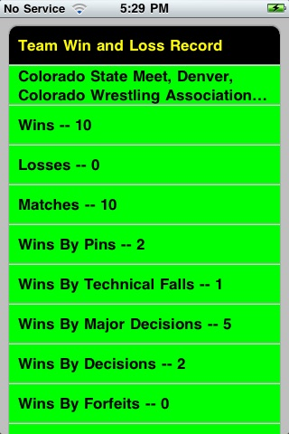 Quick Stats for Wrestling screenshot-3