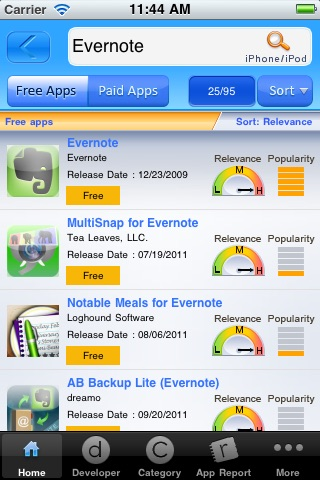 Mobilewalla: The iPhone, iPad, iPod, iTunes app search system screenshot-3