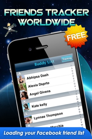 All Friends Tracker Worldwide FREE - For Facebook on the App