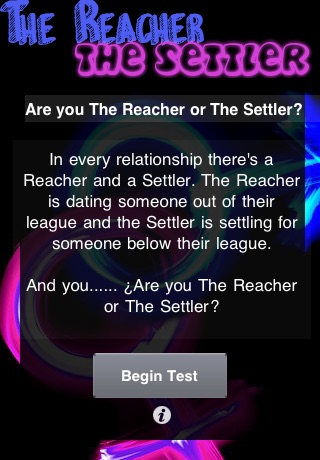 Reacher and settler test