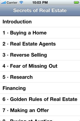 Secrets of Real Estate screenshot 1