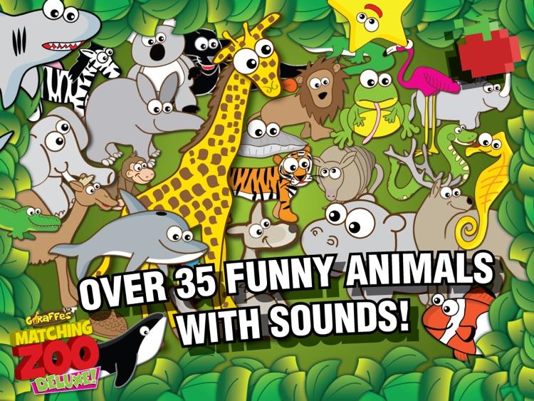 Giraffe's Matching Zoo Deluxe for iPad screenshot-3