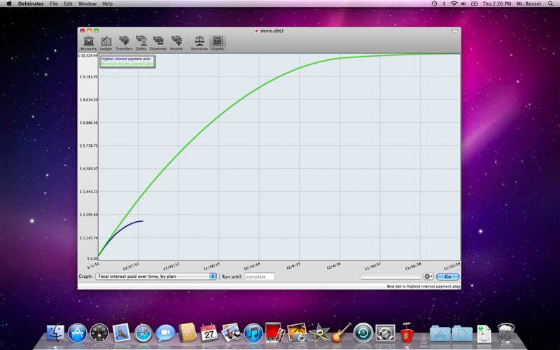 Debtinator Screenshot
