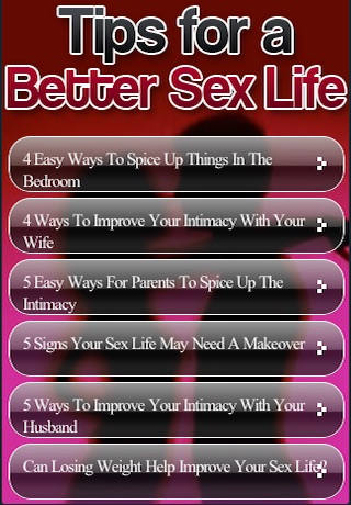 improve life sex to your Ways