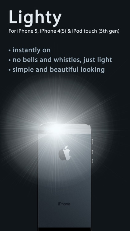 Lighty — The no–nonsense flashlight app