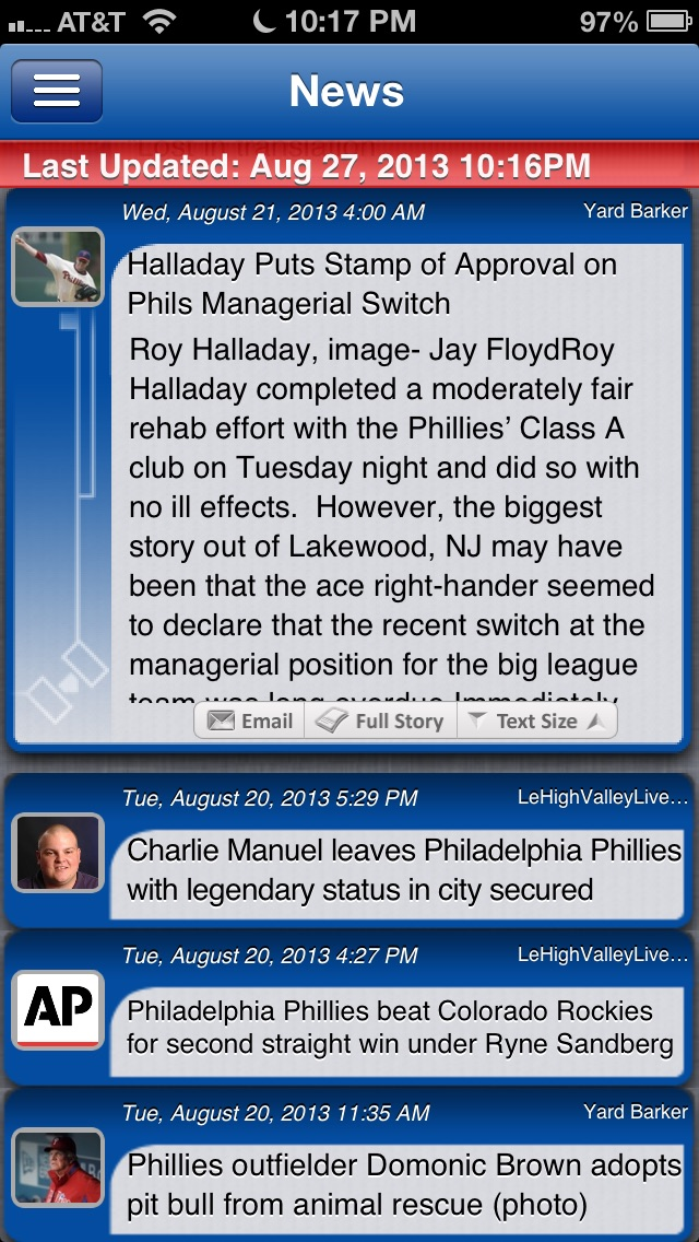 Philadelphia Baseball Live review screenshots