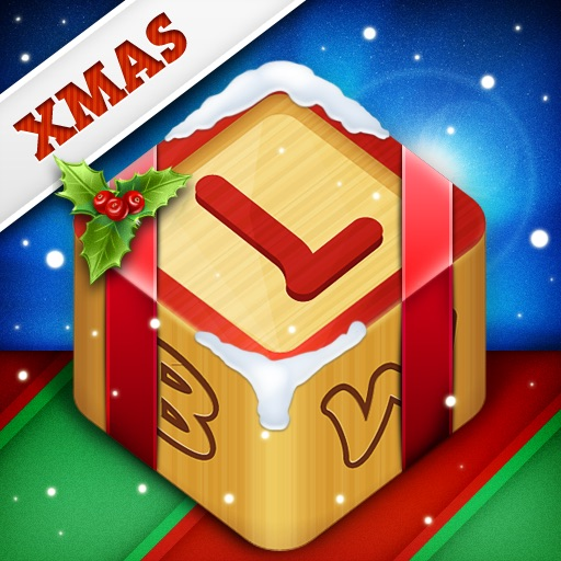 Letter Blocks 3D Christmas - Xmas Word Game with Vocabulary in 5 Languages