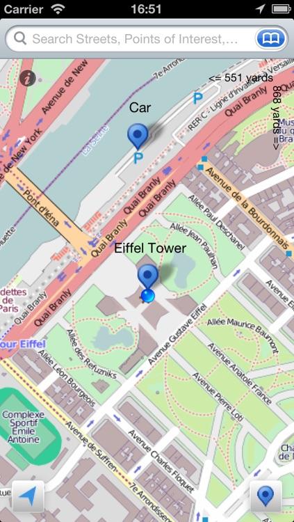 Paris + Disneyland Paris Offline Map