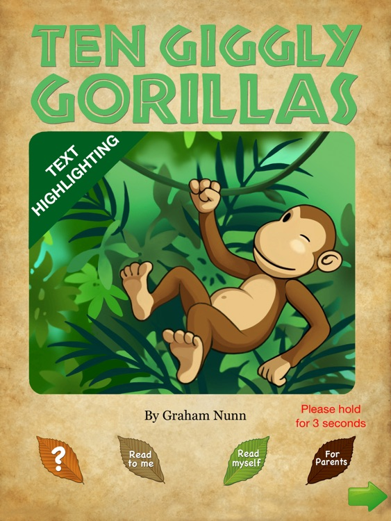 Ten Giggly Gorillas story book for children - Wasabi Productions