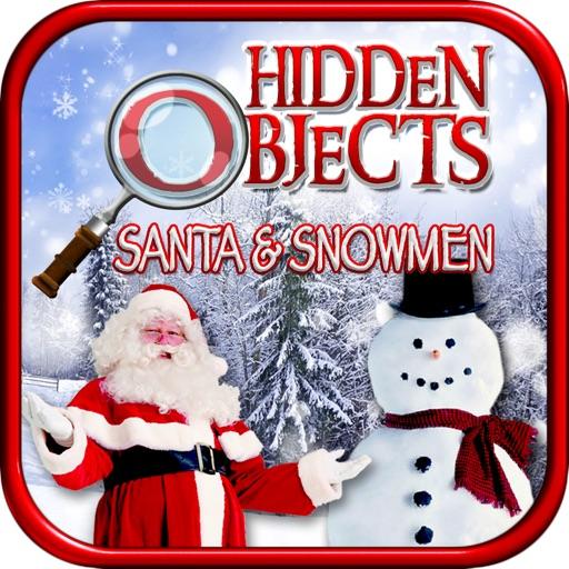 Hidden Objects - Christmas Santa and Snowmen