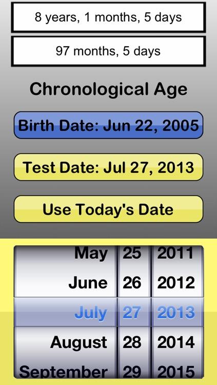 #1 Chronological Age Calculator