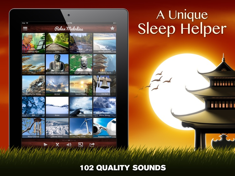 Relax Melodies Oriental Meditation Premium HD: White noise & sleep zen sounds for relaxation, yoga and health